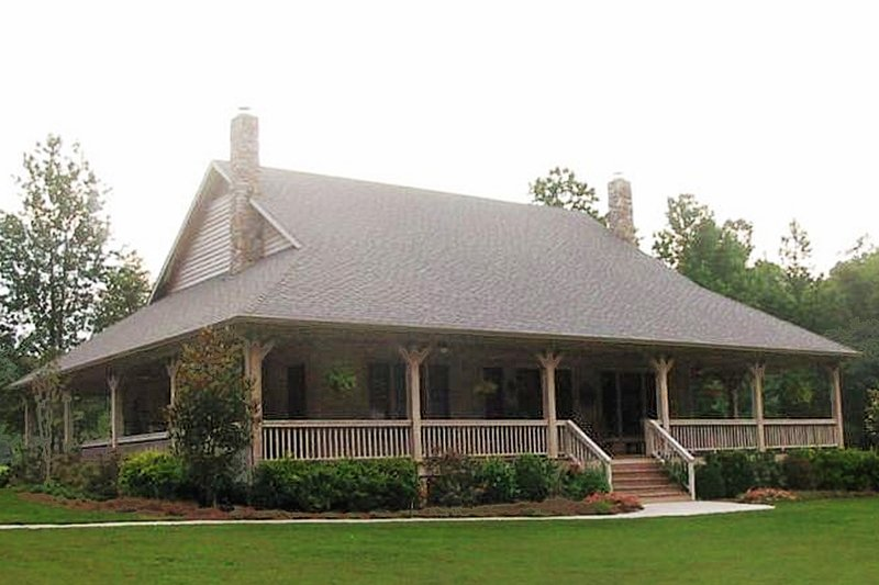 Country Style House Plan - 1 Beds 1.5 Baths 1276 Sq/Ft Plan #81-13915