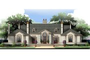 European Style House Plan - 3 Beds 4.5 Baths 3820 Sq/Ft Plan #119-106 Exterior - Front Elevation