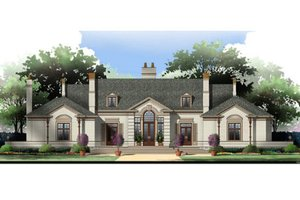 Home Plan - European Exterior - Front Elevation Plan #119-106