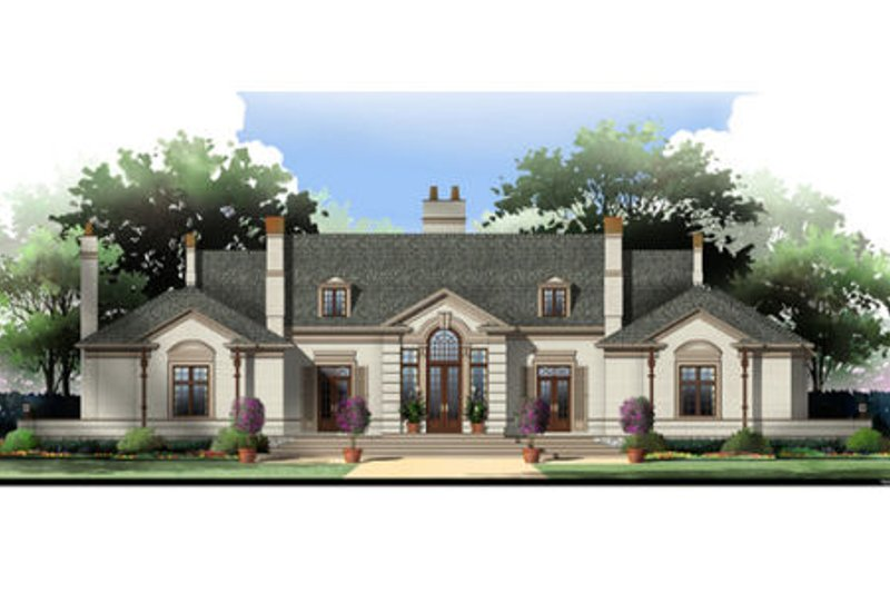 Dream House Plan - European Exterior - Front Elevation Plan #119-106