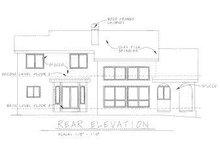 House Plan Design - Mediterranean Exterior - Rear Elevation Plan #20-715