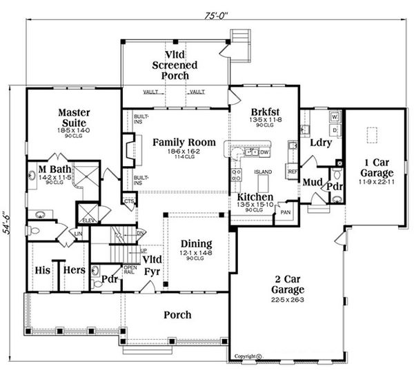 4000 square foot country house plan