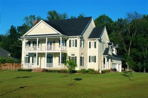 Colonial Exterior - Front Elevation Plan #20-1104