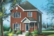 European Style House Plan - 3 Beds 1.5 Baths 1152 Sq/Ft Plan #25-4006 Exterior - Front Elevation