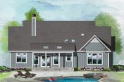 Ranch Style House Plan - 3 Beds 2 Baths 1785 Sq/Ft Plan #929-1100 Exterior - Rear Elevation