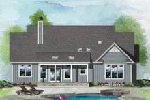 Ranch Exterior - Rear Elevation Plan #929-1100