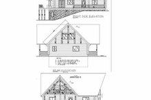 Log Exterior - Rear Elevation Plan #117-103