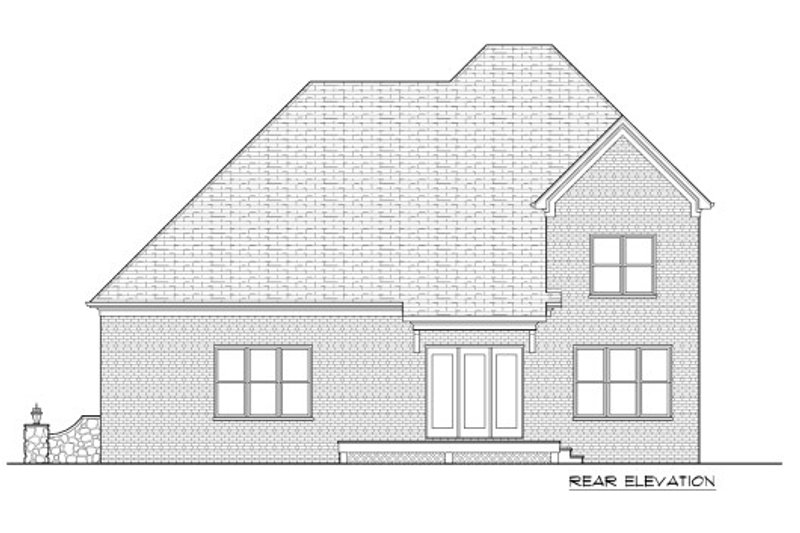 European Exterior - Rear Elevation Plan #413-885 - Houseplans.com