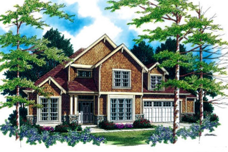 Traditional Exterior - Front Elevation Plan #48-326