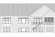 Craftsman Style House Plan - 1 Beds 1.5 Baths 1918 Sq/Ft Plan #51-351 Exterior - Rear Elevation