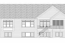 Craftsman Exterior - Rear Elevation Plan #51-351