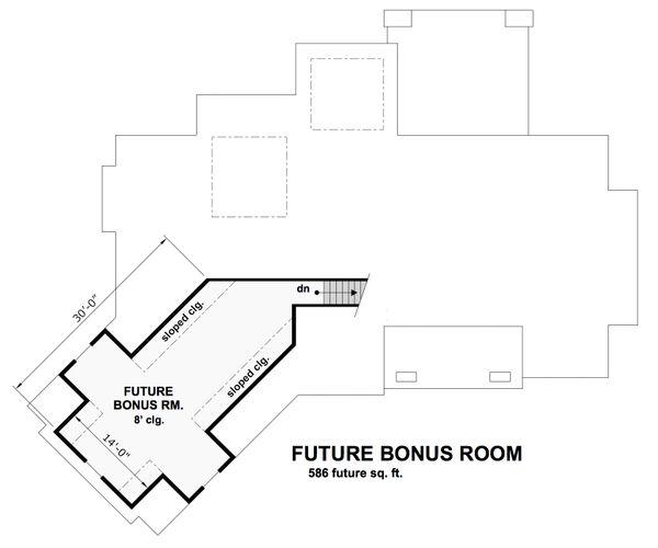 Craftsman Floor Plan - Upper Floor Plan Plan #51-573