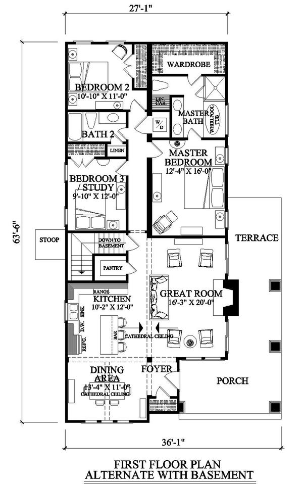 Craftsman Floor Plan - Other Floor Plan Plan #137-267