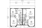 Traditional Style House Plan - 2 Beds 1.5 Baths 2520 Sq/Ft Plan #25-4253 Floor Plan - Upper Floor Plan