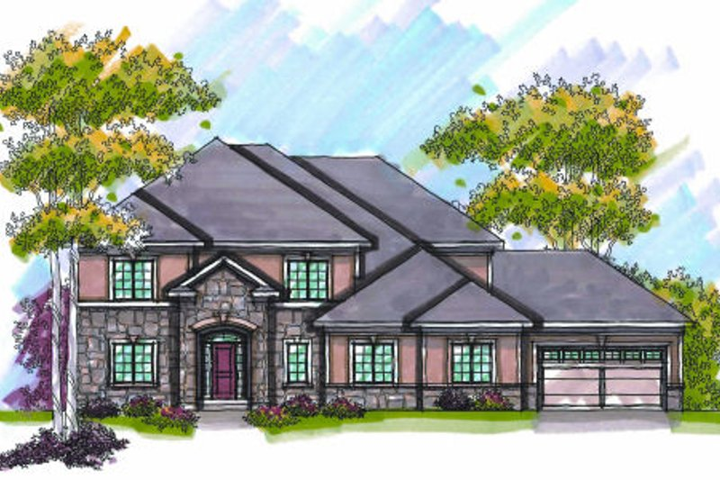 Dream House Plan - Traditional Exterior - Front Elevation Plan #70-954