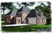 European Style House Plan - 4 Beds 3 Baths 2941 Sq/Ft Plan #15-271 Exterior - Front Elevation