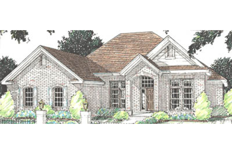 Traditional Exterior - Front Elevation Plan #20-114 - Houseplans.com