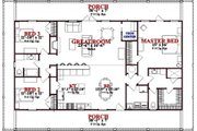 Beach Style House Plan - 3 Beds 2 Baths 1800 Sq/Ft Plan #63-364 Floor Plan - Main Floor Plan