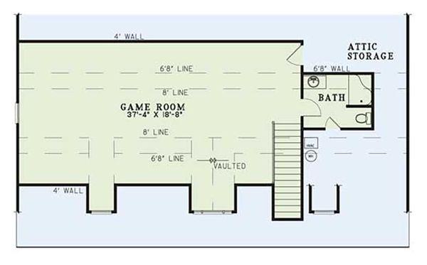 Home Plan - Country Floor Plan - Other Floor Plan #17-2594