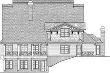 Colonial Exterior - Rear Elevation Plan #119-147