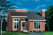 Modern Style House Plan - 3 Beds 1.5 Baths 1351 Sq/Ft Plan #25-1116 Exterior - Front Elevation