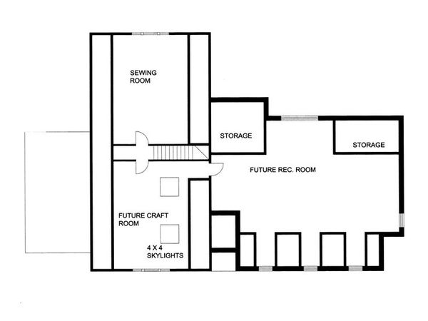 Southern Floor Plan - Upper Floor Plan Plan #117-147