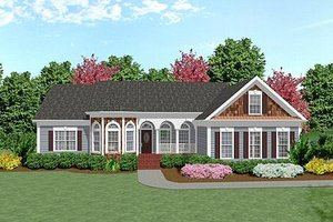 Country Exterior - Front Elevation Plan #56-151