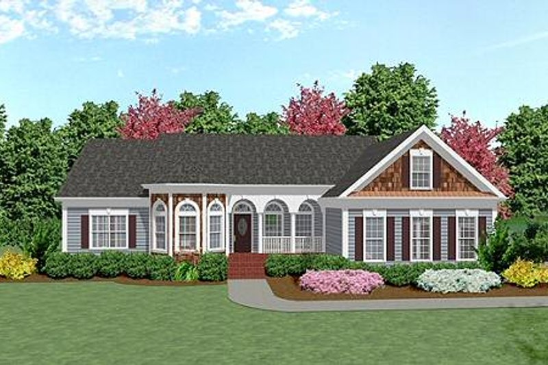 Country Exterior - Front Elevation Plan #56-151 - Houseplans.com