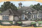 European Style House Plan - 3 Beds 4 Baths 2646 Sq/Ft Plan #115-116 Exterior - Front Elevation