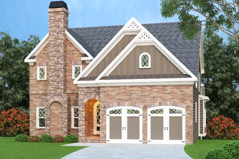 Dream House Plan - Traditional Exterior - Front Elevation Plan #419-223