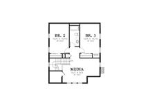 Cottage Floor Plan - Upper Floor Plan Plan #48-572