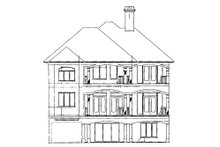 Mediterranean Exterior - Rear Elevation Plan #930-16