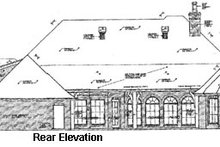 European Exterior - Rear Elevation Plan #310-333