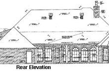 European Exterior - Rear Elevation Plan #310-333