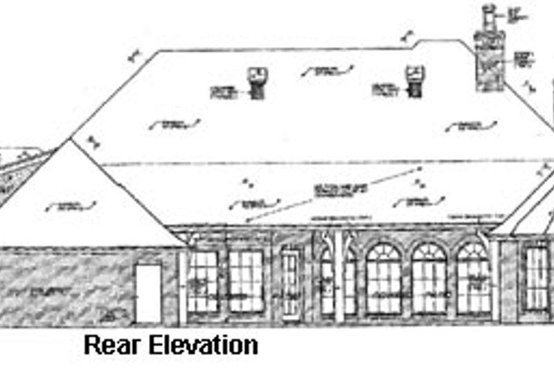 European Exterior - Rear Elevation Plan #310-333 - Houseplans.com