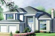 Traditional Style House Plan - 3 Beds 2.5 Baths 2676 Sq/Ft Plan #25-2249 Exterior - Front Elevation
