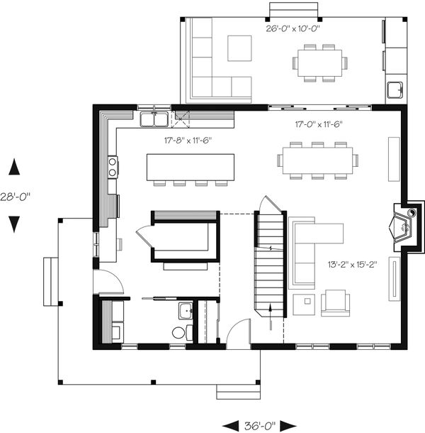Country Floor Plan - Main Floor Plan Plan #23-2669