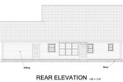 Craftsman Style House Plan - 3 Beds 2.5 Baths 2066 Sq/Ft Plan #513-2065 Exterior - Rear Elevation