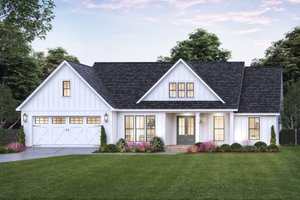 Farmhouse Exterior - Front Elevation Plan #1074-43