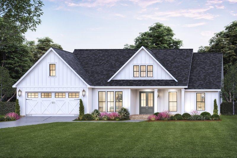 Home Plan - Farmhouse Exterior - Front Elevation Plan #1074-43
