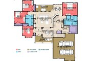 Traditional Style House Plan - 4 Beds 3 Baths 2298 Sq/Ft Plan #63-402 Floor Plan - Main Floor Plan