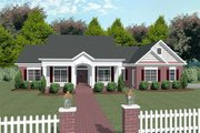 Southern Style House Plan - 3 Beds 3 Baths 2184 Sq/Ft Plan #56-170 Exterior - Front Elevation