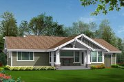 Craftsman Style House Plan - 2 Beds 2.5 Baths 3559 Sq/Ft Plan #132-570 Exterior - Rear Elevation