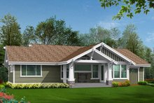 Craftsman Exterior - Rear Elevation Plan #132-570