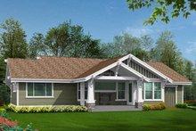 House Plan Design - Craftsman Exterior - Rear Elevation Plan #132-570