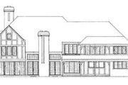 Tudor Style House Plan - 4 Beds 5.5 Baths 5638 Sq/Ft Plan #72-219 Exterior - Rear Elevation