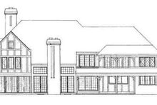 Tudor Exterior - Rear Elevation Plan #72-219