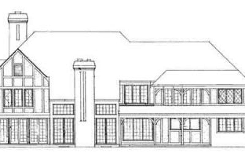 Tudor Exterior - Rear Elevation Plan #72-219 - Houseplans.com