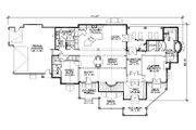 Bungalow Style House Plan - 5 Beds 5.5 Baths 3976 Sq/Ft Plan #5-414 Floor Plan - Main Floor Plan