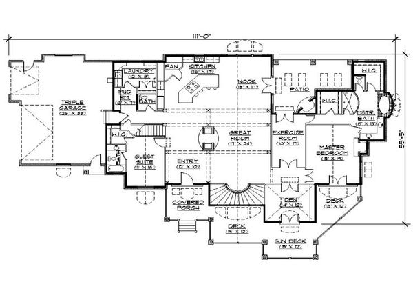Bungalow Floor Plan - Main Floor Plan Plan #5-414